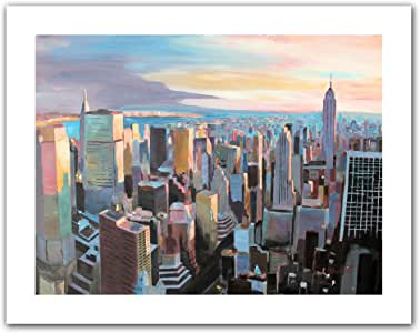 Art Wall 'New York City Skyline in Sunlight' Unwrapped Canvas Artwork by Markus Bleichner, 18 by 22-Inch
