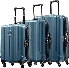 Samsonite 新秀丽 FLOREN系列 可扩展耐磨万向轮四轮拉杆箱 BQ1*51004 灰蓝色 20寸+24寸+28寸 三件套
