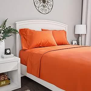 Bedford 家居 1200 张床单系列 橘红色(Rust) 全部 66A-34093