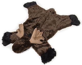 Carstens 毛绒麋鹿动物地毯,大号 棕色 小号 SMR201