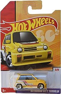 Hot Wheels 1:64 比例压铸*传统 [黄色] '85 本田城市涡轮 II 5/8