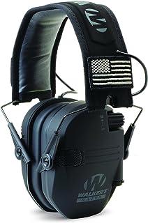 "Walker's Razor 超薄电子听力保护松饼带声音放大和抑制。 ""Protect It Or Lose It!"""
