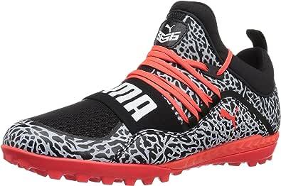 PUMA 男士 365.18 Ignite Texture ST 足球鞋 Puma 黑色 红色 Blast-puma 白色 10 M US