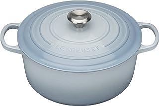 Le Creuset 酷彩 搪瓷铸铁锅 圆形法式砂锅 5-1/2夸脱(约5.20L) 海岸蓝色