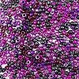 多色塑料工艺小马珠,6x9 毫米,500 颗珠子 Blackberry Mix 64502-500