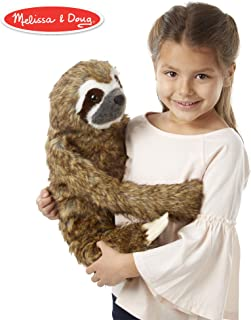 Melissa & Doug 18808 逼真毛绒树懒填充动物玩具