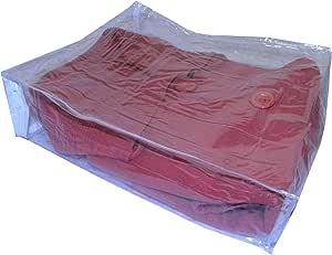AntiqueKitchen 透明乙烯基拉链储物袋,AK 塑料 透明 11 x 9 x 3 inches B00LMEW0G0