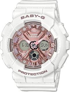 CASIO 卡西欧 女士指针式数字石英手表带树脂表带 BA-130-7A1ER
