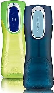 Contigo 康迪克 AUTOSEAL Trekker 水瓶 14盎司(414ml)Granny Smith & Nautical 2件裝