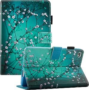 iPad * 5 代保护套,iPad Air 保护套 A1474/A1475 - Dteck iPad 9.7 英寸翻转支架智能保护套 [自动*/唤醒] iPad Air 9.7 英寸平板电脑保护套 002 Pear Blossom