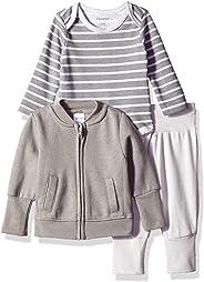 Hanes Ultimate Baby Flexy Jogger 长袖紧身衣和羊毛夹克