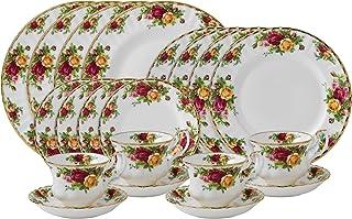 Royal Albert 旧式乡村玫瑰20件餐具套装,4人用