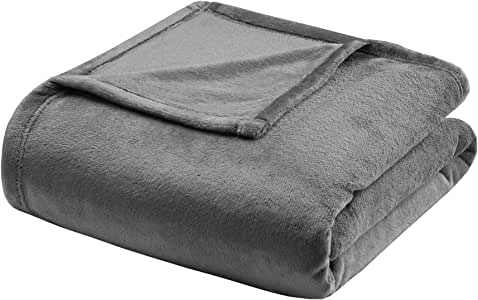 Madison Park Micro Light Blanket, Full/Queen, Charcoal