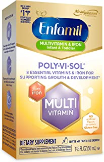Enfamil 美赞臣 Poly-Vi-Sol 多种维生素补充剂 含铁 50ml (新老包装交替发货)