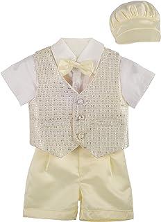 Lito Angels 男婴洗礼套装正式套装带帽子 4 件套 041 042