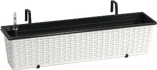 gartenfreude 4000–1007–0015019XCM 树脂柳条阳台盒 watering 系统包括登山