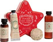 Panier des Sens 杏仁圣诞礼物套装。 包括沐浴露、身体牛奶、护手霜和香水香皂。