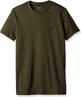 ARMANI JEANS 男式加大码棉质平针织小鹰标志 T 恤