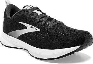 Brooks 男款 Revel 4 跑鞋, Black/Oyster/Silver, 10.5 UK