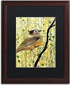 "Trademark Fine Art Monsieur by Sylvie Demers Wood Frame, 16"" x 20"", Black Matte"