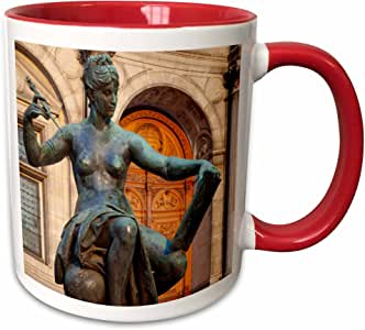 3drose danita delimont–brian jannsen–statues–allegorical 雕像代表 SCIENCE ,*店 DE VILLE ,法国巴黎 .–马克杯 红/白色 11 oz