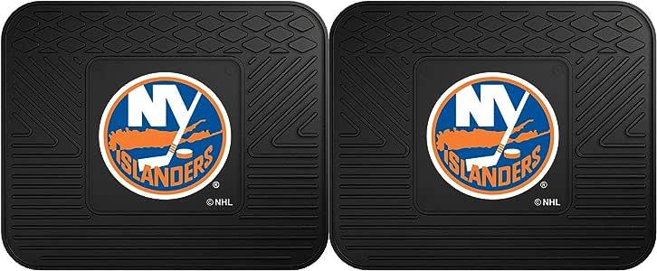 "Fanmats NHL 纽约岛人队乙烯基重型货物垫 黑色 14""x17"""