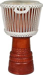 X8 Drums Ivory Elite Pro Djembe Drum, Medium