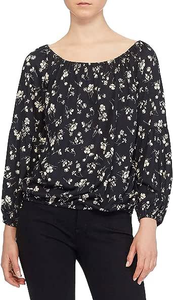 Lauren Ralph Lauren 女士花卉露肩女衬衫黑色 M 码