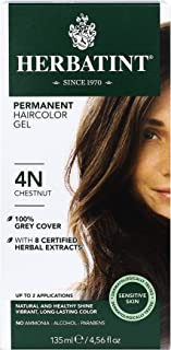 Herbatint - 草本Haircolor永久胶凝体4N栗子 - 4.5盎司