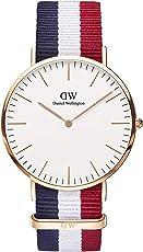Daniel Wellington 丹尼尔•惠灵顿 瑞典品牌 Classic系列 玫瑰金表圈表扣 石英手表 男士腕表