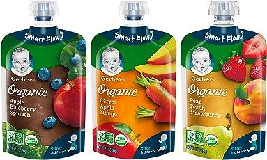 Gerber 嘉宝水果蔬菜组合包 1包3.5 盎司(约99克) 18 支装