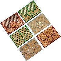 All Holiday 圣诞牛皮纸箔礼品卡袋-各式节日款设计(共12个)
