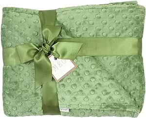 MEG Original Dark Sage Green Minky 圆点婴儿/幼儿婴儿床毯 6790
