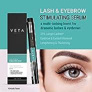 Veta - 睫毛和眉毛精华 - 二合一睫毛和眉笔 - 产生更长、更*、更浓密的睫毛和浓密的眉毛 - 睫毛精华 - 促进皮肤胶原蛋白 - ** - 1 液体盎司