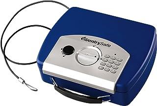 SentrySafe 0.08 立方脚电子紧凑型保险箱 蓝色 0.08 Cubic Foot P008E-BL