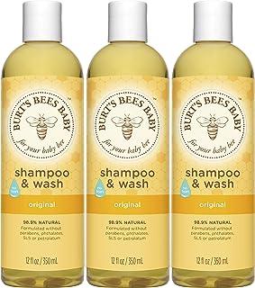 Burt's Bees Baby 蜜蜂洗发水&沐浴露 12液体盎司(350ml) 3瓶装