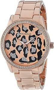 Rocawear 女式石英黄铜和合金休闲手表,颜色:玫瑰金色调(型号:RL0110RG1-471)