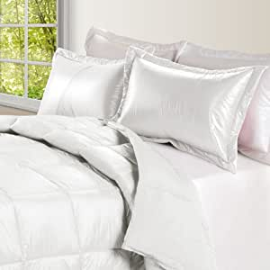PUFF Ultra Light Nylon and Microfiber Down Alternative Indoor/Outdoor Comforter, King, White
