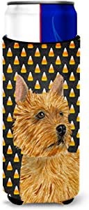 Norwich Terrier Candy Corn Halloween Portrait Michelob Ultra Koozies for slim cans SS4292MUK 多色 Slim