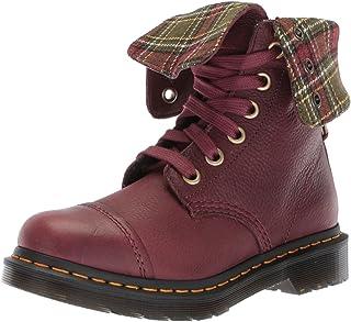 Dr. martens 女式 aimilita FL 樱桃红色及踝靴 Black Aunt Sally 3 Medium UK (5 US)