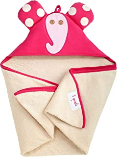 3 Sprouts Hooded Towel, Elephant