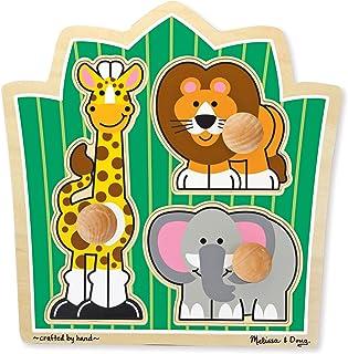 Melissa & Doug 美国玛莉莎 丛林朋友 巨型旋钮:丛林之友