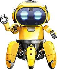 Elenco Teach Tech Zivko 机器人 | 互动式 A/I 能力机器人,带红外传感器 | STEM 儿童教育玩具 10+