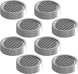 InterDesign Forma Coasters (Set of 32), Brushed Stainless Steel/Black
