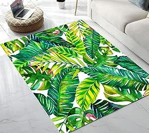 独角兽鱼绘画仙人掌章鱼泡泡小象美人鱼鳞小地毯适用于客厅卧室 12.7 cm x 17.78 cm 图案 7 5'x7' APII-7