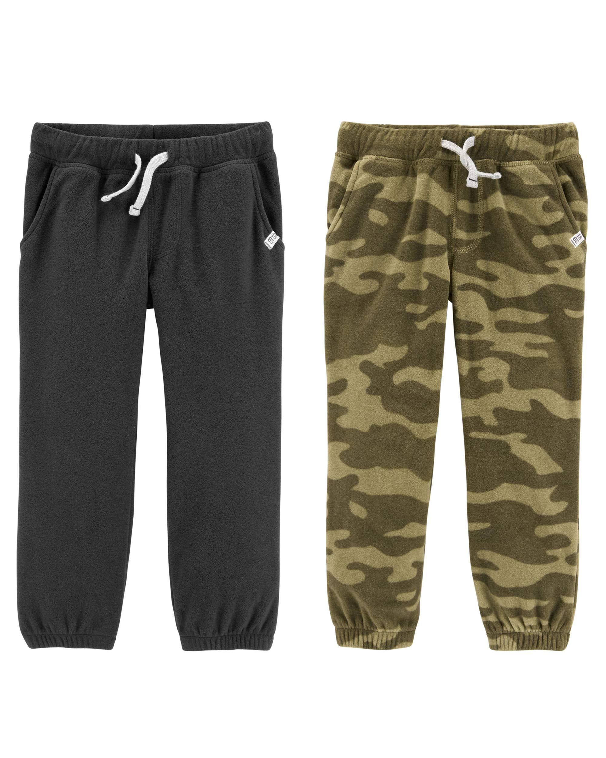 Carter's 卡特男童 2T-8 保暖羊毛运动裤,2 件装