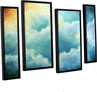 ArtWall Marina Petro's Evidence of Angels 4 Piece Floater Framed Canvas Staggered Set, 36 by 54""