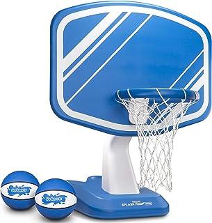 GoSports Splash Hoop PRO 泳池篮球游戏,包括泳池边水篮球篮,2 个球和泵
