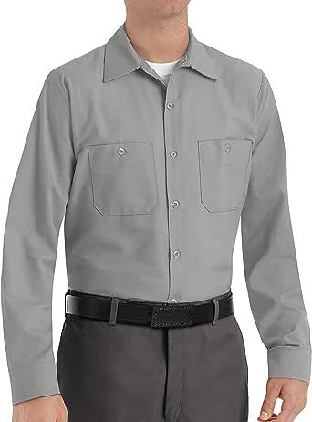 Red Kap 男式工业长袖工作衬衫 浅灰色 3X-Large