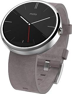 Motorola摩托罗拉Moto 360 石灰色皮表带智能手表